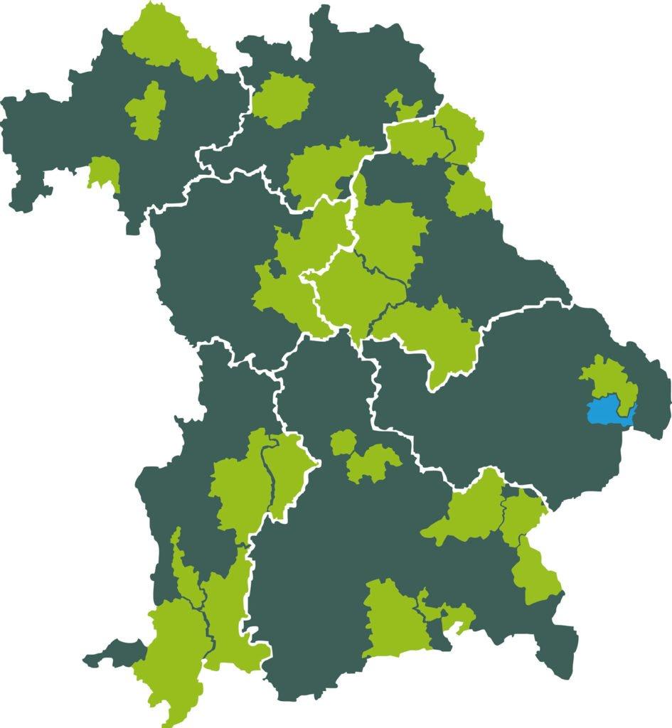 Die Öko-Modellregionen in Bayern